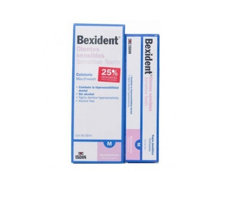 Bexident® colutorio dientes sensibles 500ml + Bexident® pasta dentífrica dientes sensibles 75ml
