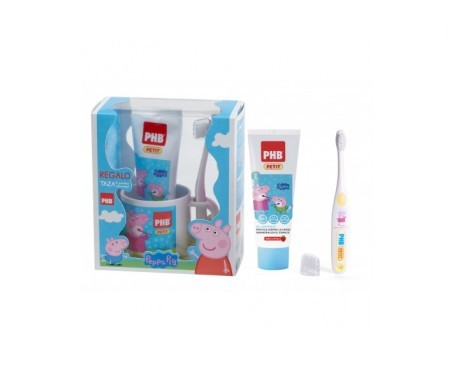 PHB Petit Peppa Pig pasta 75ml + cepillo + REGALO taza
