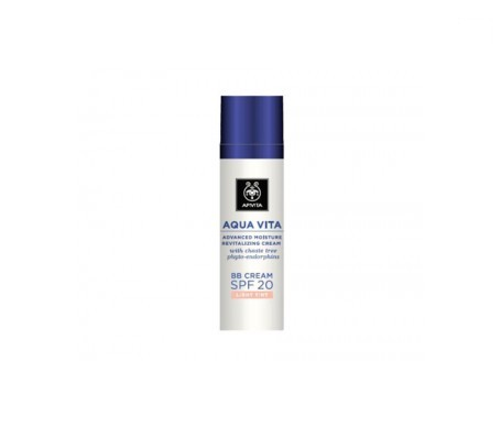 Apivita Aqua Vita crema hidratante BB SPF20+ tono claro 40ml
