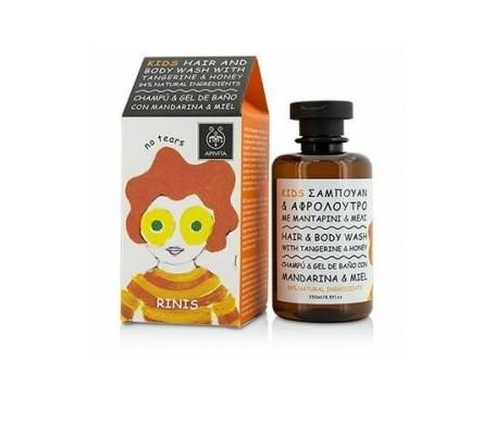 Apivita Kids champú-gel con mandarina y miel 250ml