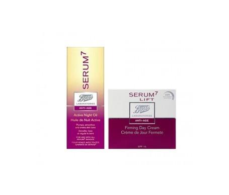 Pack Serum7 aceite noche activo 30ml + Serum7 Lift crema día reafirmante 50ml