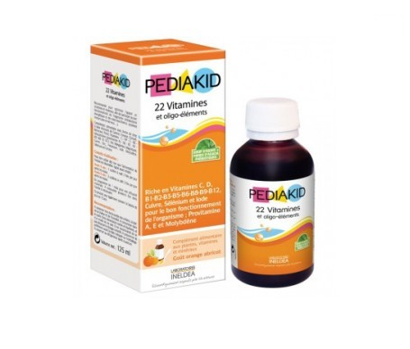 Pediakid Sirop 22 vitamines et oligoéléments 125 ml