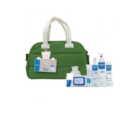 Mustela Pack Mi Primer Viaje bolso verde