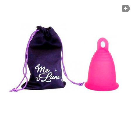 MeLuna coupe menstruelle Edition Limitée Fuchsia taille L anneau de finition 1 pc
