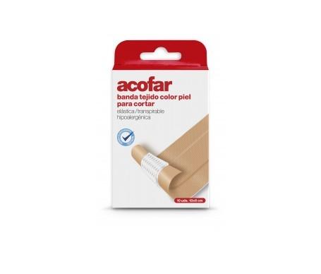 Acofar apósito banda tejido para cortar poroso 10x6cm 10uds