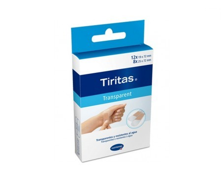 Tiritas transparent 20uds