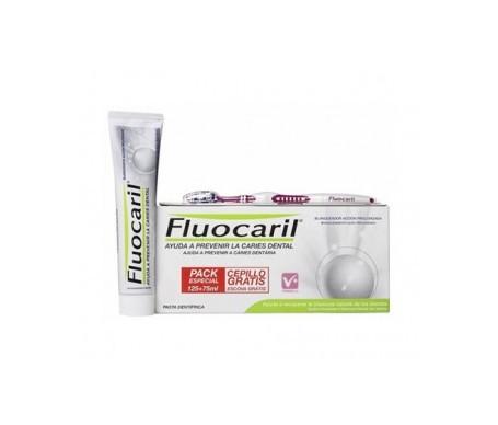 Fluocaril® blanqueador 125ml+75ml + REGALO cepillo 1ud
