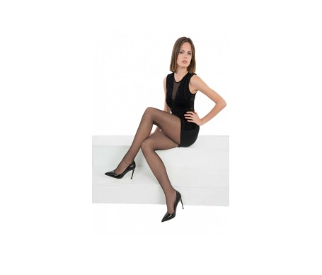 Anaissa panty licra relax, varices opacidad negro 2Uds L