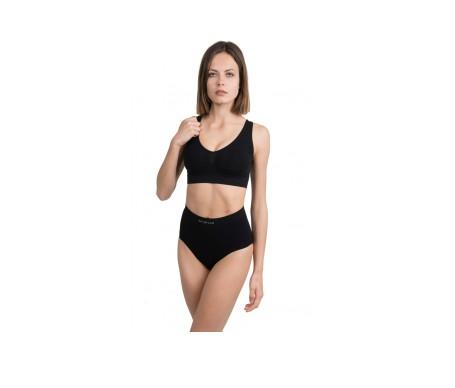 Anaissa Bikini Efecto Tanga Reductor Doble Acción Con Tecnología Biotech Color Negro Talla-S