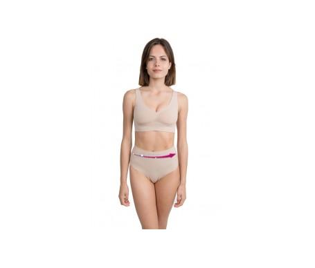 Anaissa Bikini Efecto Tanga Reductor Doble Acción Con Tecnología Biotech Color Beige Talla-S