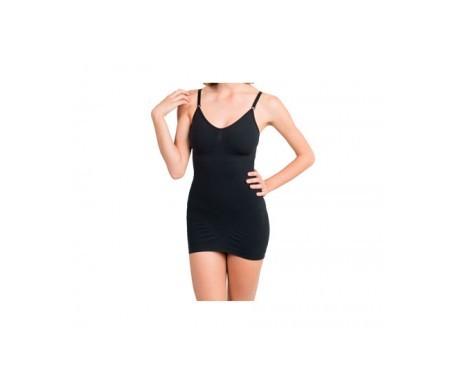 Anaissa vestido reductor forma de pecho y tirantes color negro Talla-S