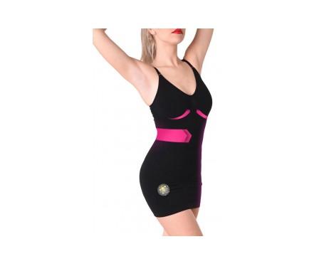 Anaissa vestido reductor forma de pecho y tirantes color negro Talla-M