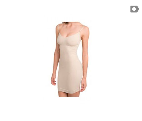 Anaissa vestido reductor forma de pecho y tirantes color beige Talla-S