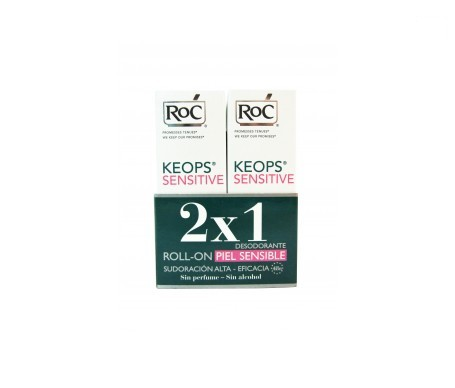 RoC® Keops desodorante roll on pieles sensibles 30ml+30ml
