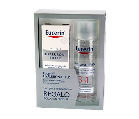 Eucerin® Pack Hyaluron-Filler crema dia piel normal/mixta 50ml + Dermatoclean Solución Micelar 200ml