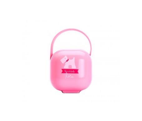 Suavinex® portachupetes rosa 1ud