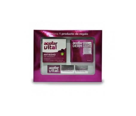 Acofar vital antiox 60comp +  Acofarderm con resveratrol 50ml