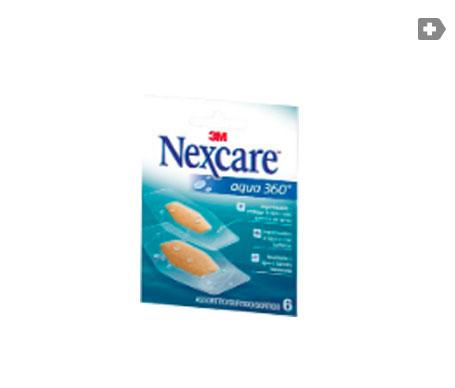 Nexcare® Aqua 360º tiras adhesivas bolsillo 6uds