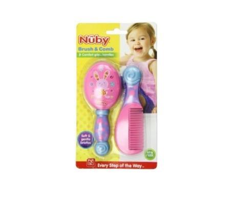Nuby kit peine y cepillo color rosa