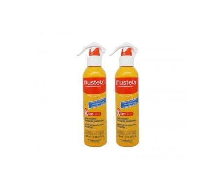 Mustela® fotoprotector spray solar pieles atópicas SPF50+ 300ml+300ml