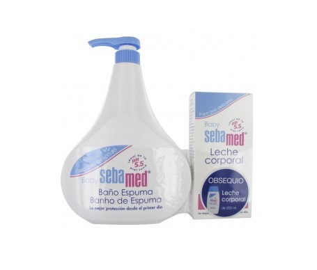 Sebamed Baby leche corporal 200ml + baño espuma 200ml