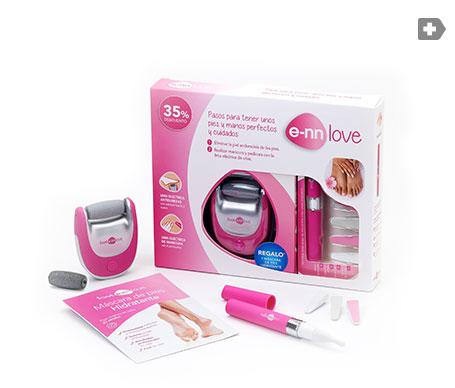 E-nn Love kit Manipedi lima eléctrica de pies + lima láser de manos + máscarilla hidratante de pies