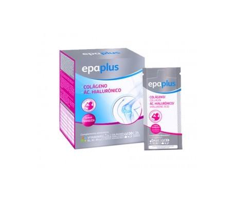 Epaplus Colágeno + Ác. Hialurónico + Magnesio sabor frambuesa 14 sobres. Polvo (monodosis)