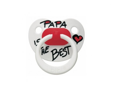 Bibi chupete silicona 16+  Papa is the best 1ud