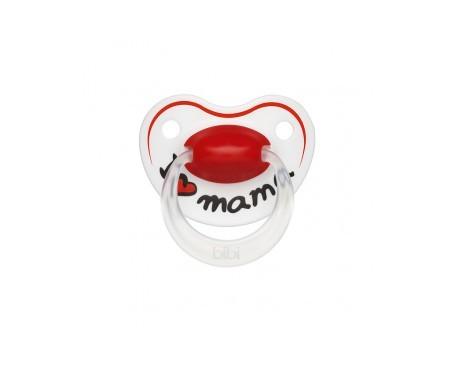 Bibi chupete silicona 6-16 meses I love mama 1ud