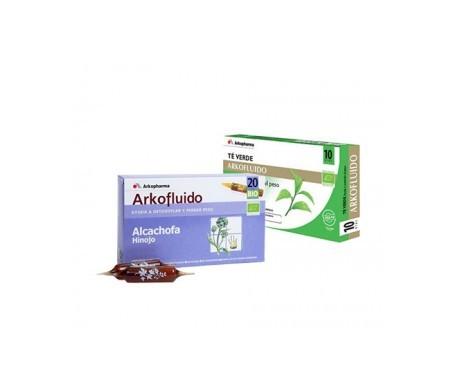 Arkofluido alcachofa 10amp + té verde 10amp