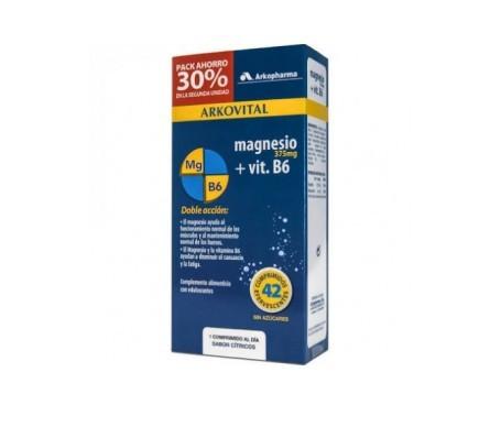 Arkovital magnesio 375mg + vitamina B6 2x21comp efervescente