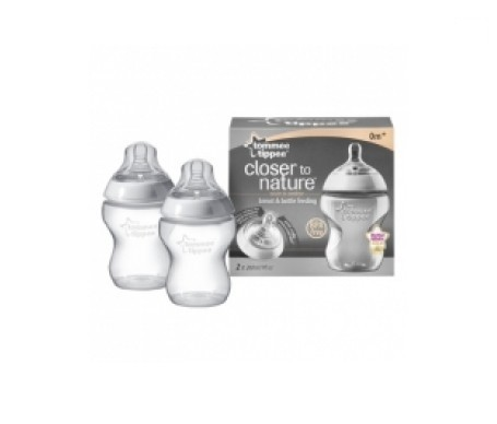 Tommee Tippee biberones color blanco 2udsx260ml