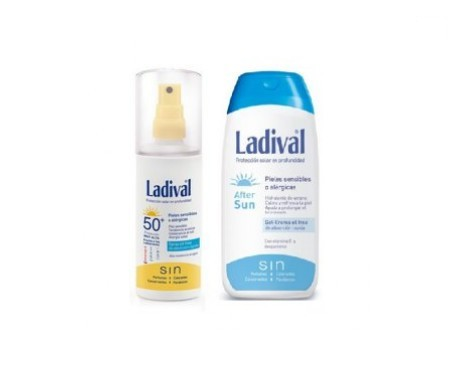 Ladival® Pack Pieles sensibles o alérgicas SPF50+ spray oil free 150ml+ aftersun 200ml