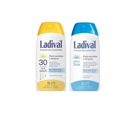 Ladival® Pack Pieles sensibles o alérgicas SPF30+ gel-crema 200ml + AFTERSUN 200ml