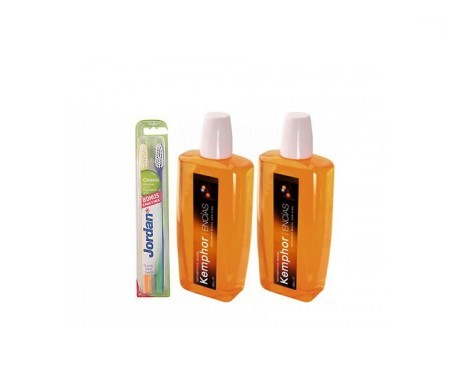 Kemphor enguaje bucal 500ml+500ml + REGALO cepillo dental 1ud