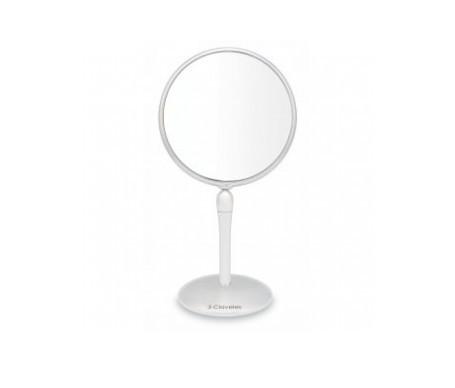 3 oeillets miroirs avec base tournante 1x5 grossissement diamètre 18cm