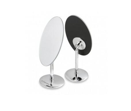 3 Claveles espejo oval con base giratoria aumento 1x3 diámetro 13x11cm
