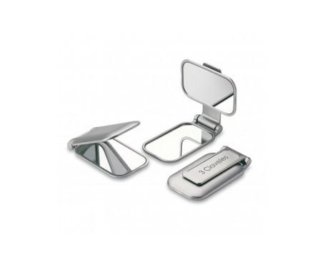 3 Claveles espejo bolso aumento 1x2 diámetro 7,5x10cm