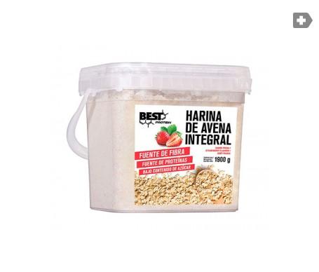 Best Protein carbohidratos harina de avena sabor fresa 1900g