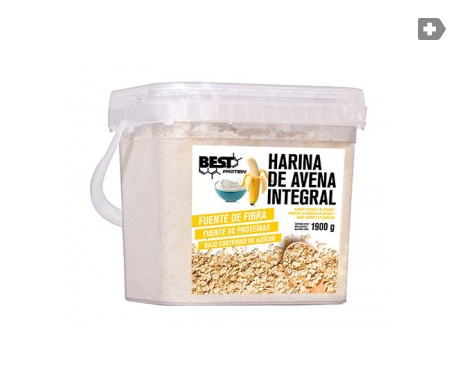 Best Protein carbohidratos harina de avena sabor yogur-banana 1900g