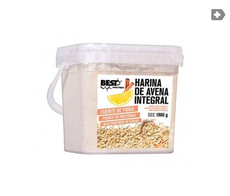 Best Protein carbohidratos harina de avena sabor limón-canela 1900g