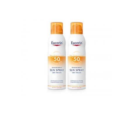 Eucerin® Sun spray toque seco SPF50+ 2x200ml