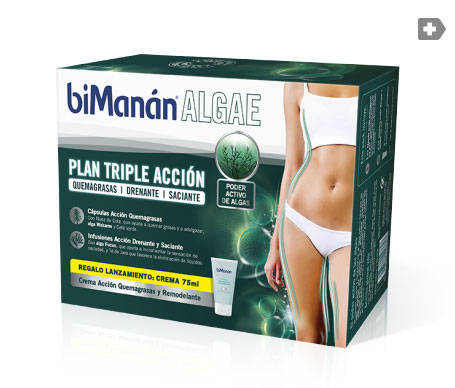 biManán Algae Plan Triple Acción 28inf+42cáps+ crema 75ml