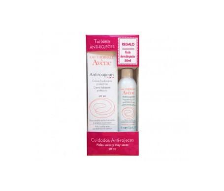 Avène anti-rojeces emulsión hidratante SPF20+ 40ml + fluido dermolimpiador 50ml