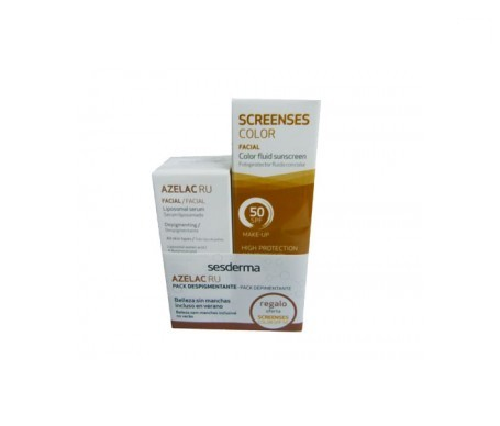 Sesderma Azelac RU sérum 30ml + Screenses crema con color SPF50+ gel 50ml