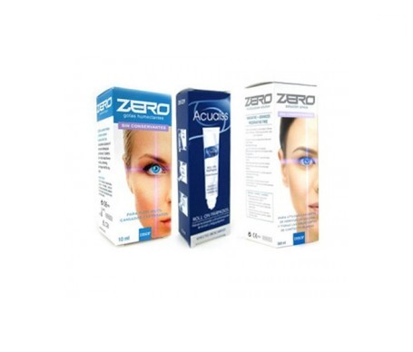 Disop Zero solución 360ml + gotas humectantes 10ml + acuaiss roll on 15ml