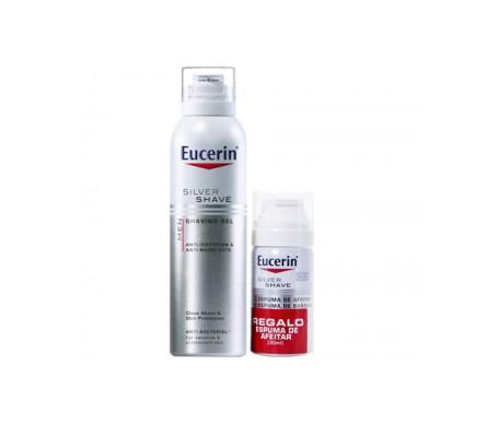 Eucerin® Men Pack Silver Shave gel de afeitar 150ml + espuma de afeitar 30ml