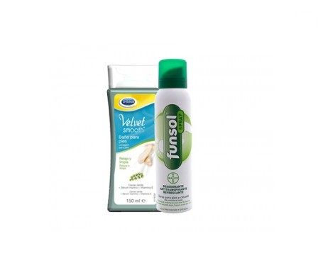 Funsol® spray 150ml + Scholl Velvet Smooth baño de pies 150ml