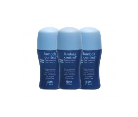 Lambda Control® desodorante roll on antitranspirante 3udsx50ml