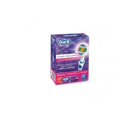 Oral B cepillo eléctrico Pro 600 3D White+pasta 3D White REGALO